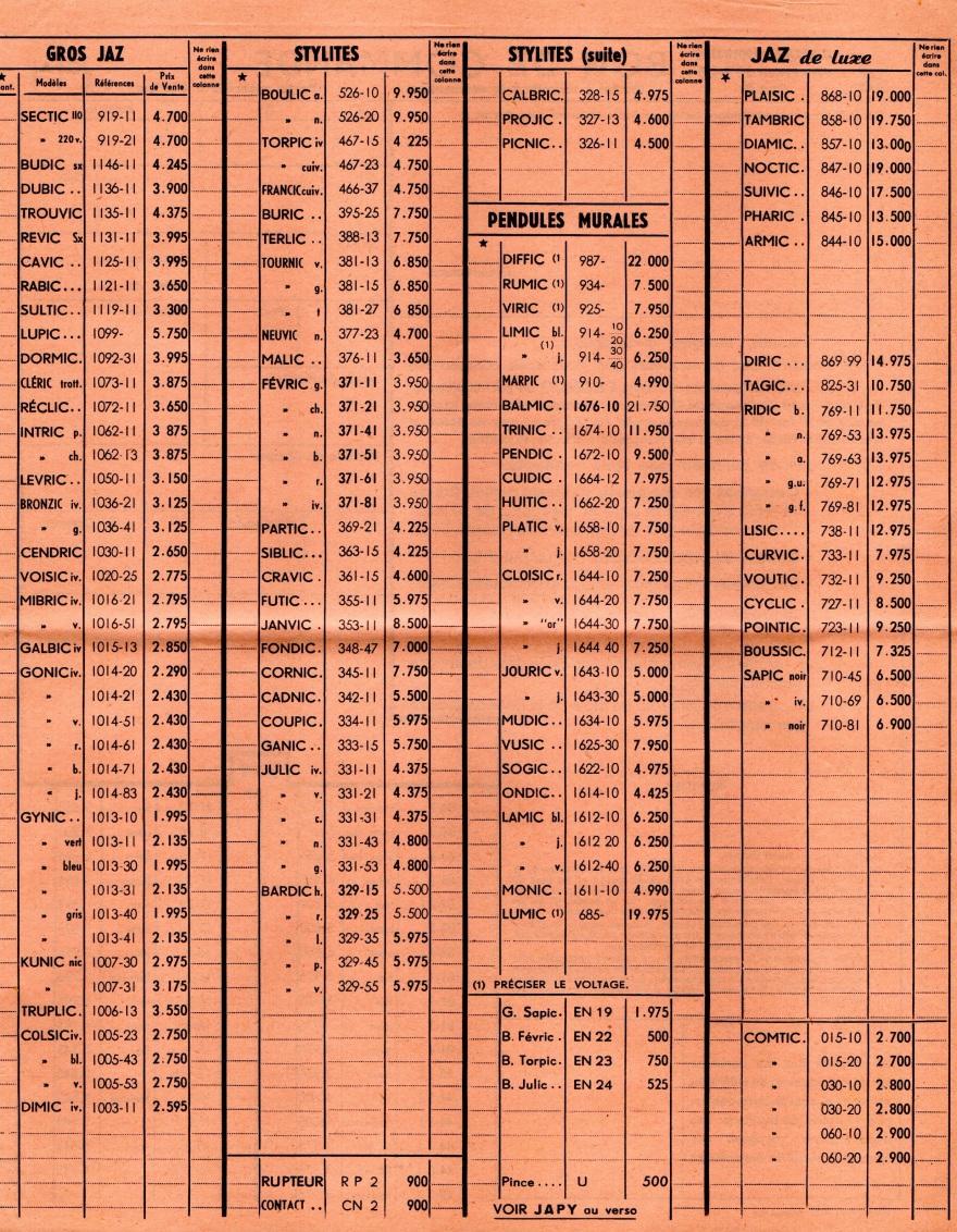 1958 bon de commande avril 1958 page 2