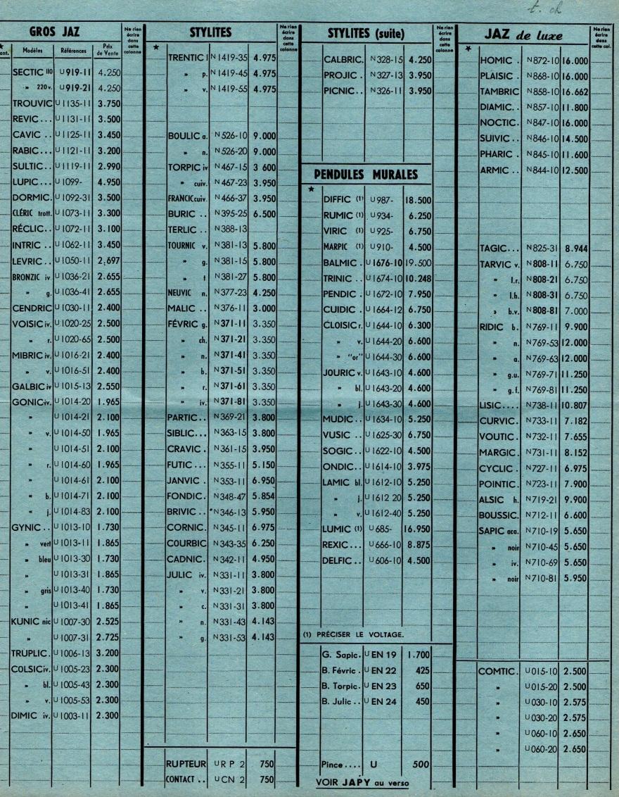 1958 bon de commande Janvier 1958 page 2