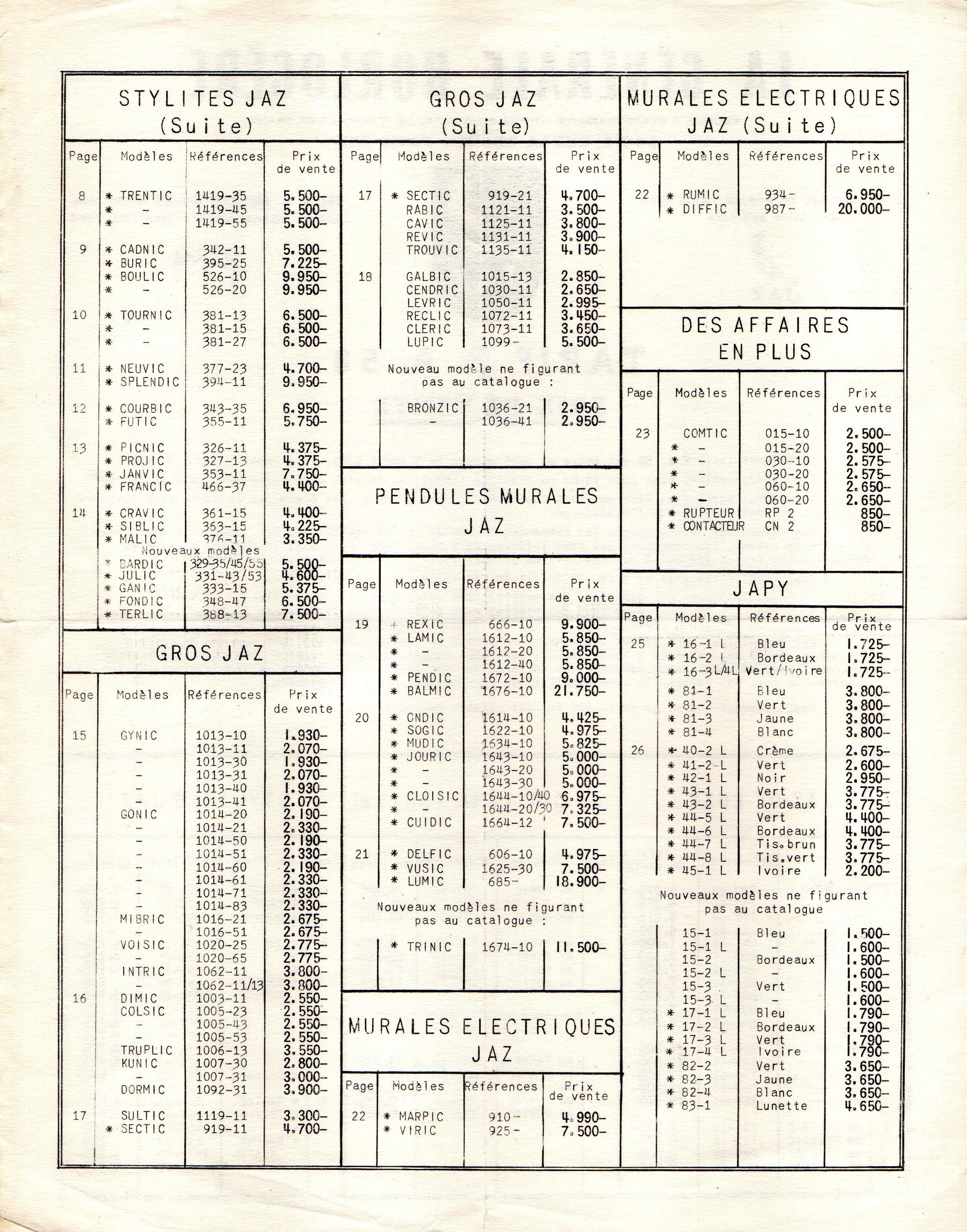 1958 tarif FA page 2