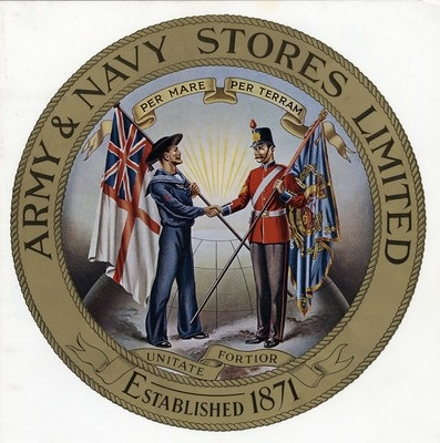 Army and Navy Stores Catalogue logo 1900
