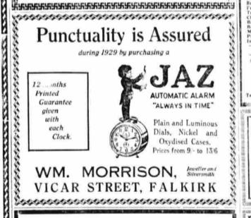 1929 janv The Falkirk Herald detail