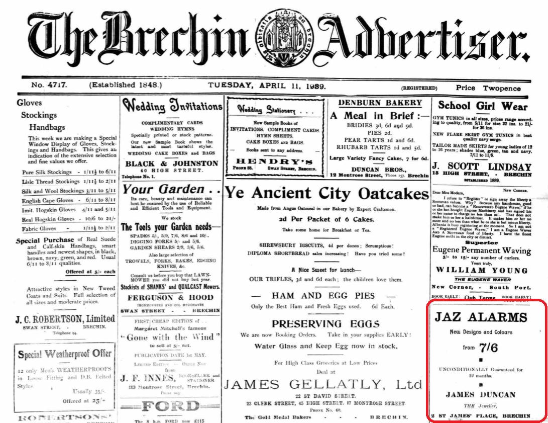 1939 avril 11Brechin Advertiser