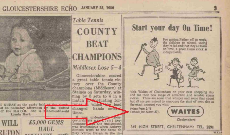 1950 jan 23 Gloucestershire Echo