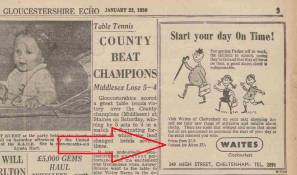 1950 jan 23 Gloucestershire Echo