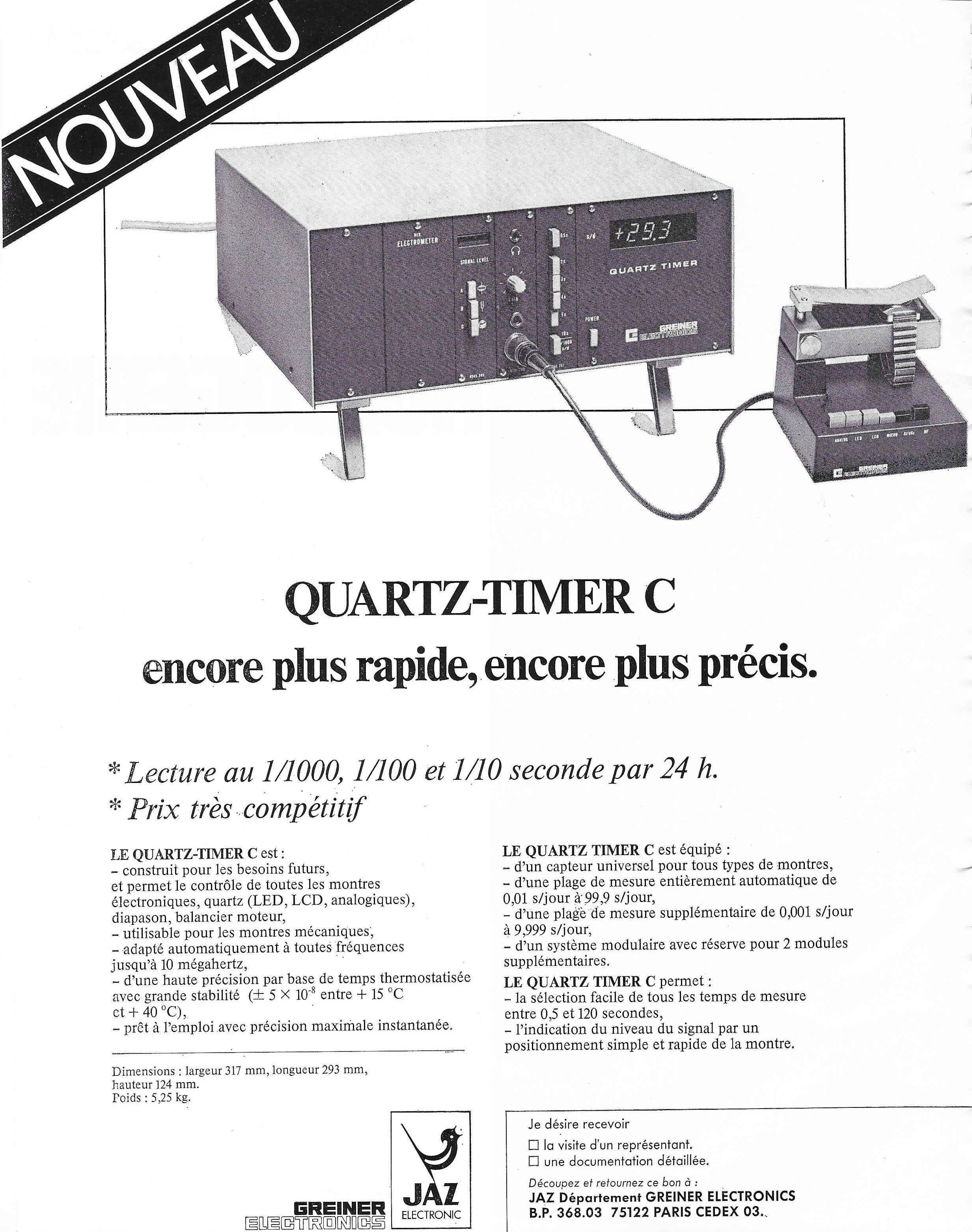 la france horlogère n°341 Mars 1974 grenier