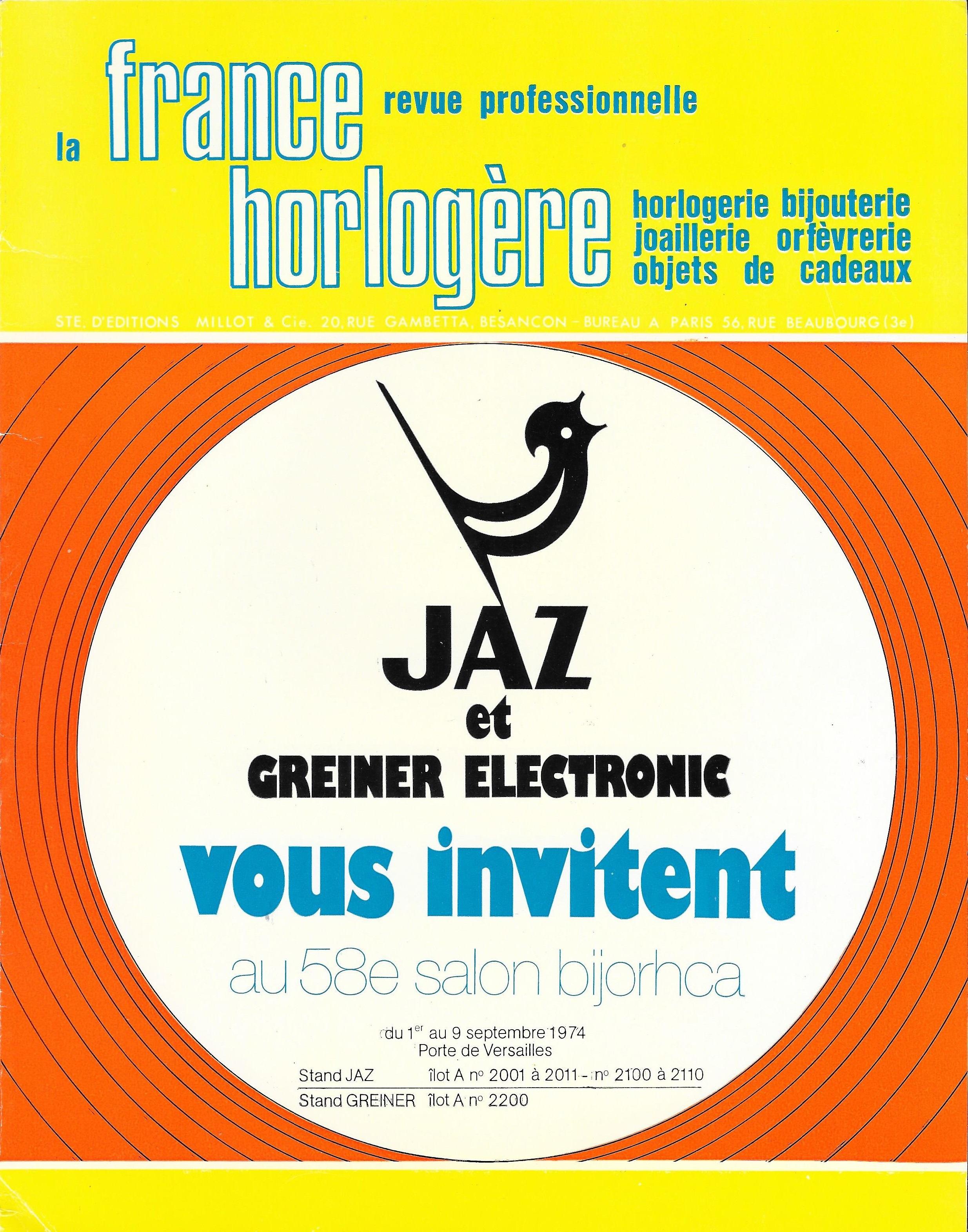 La France Horlogère n°345  juillet 1974 une.jpg