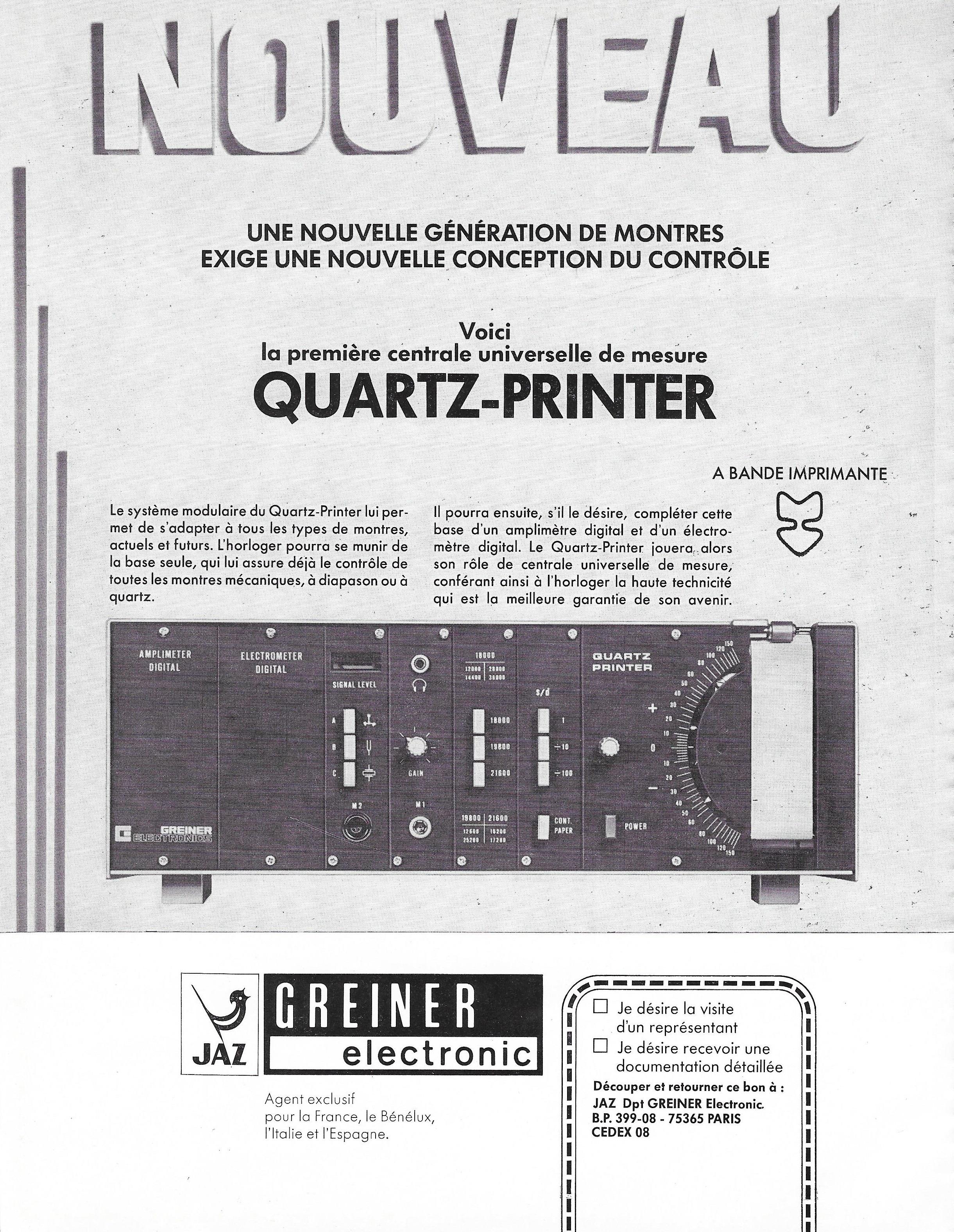 La France Horlogère n°375 Février 1977 Grenier