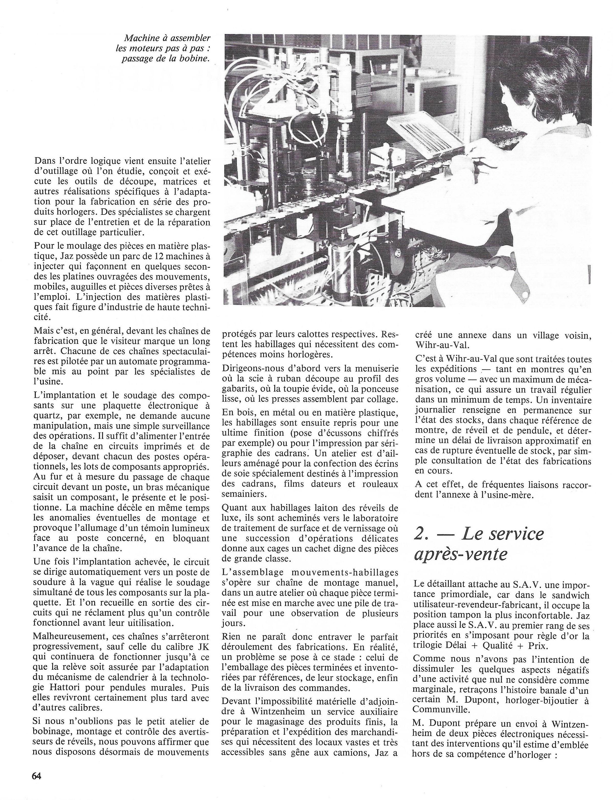 La France Horlogère n°429 Janv 1982 page 64