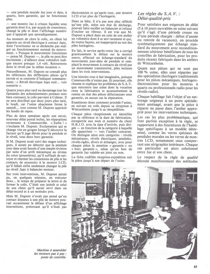 La France Horlogère n°429 Janv 1982 page 65