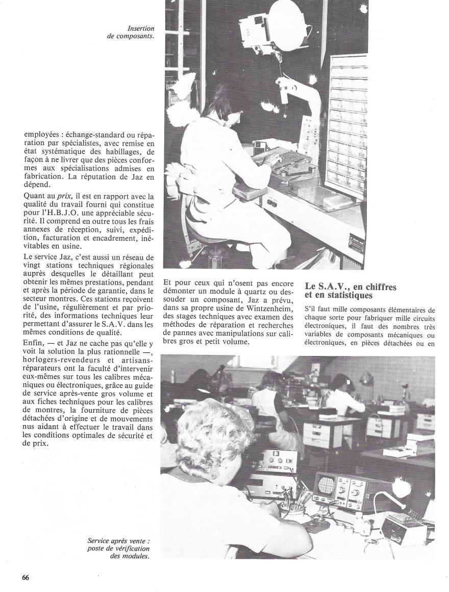 La France Horlogère n°429 Janv 1982 page 66