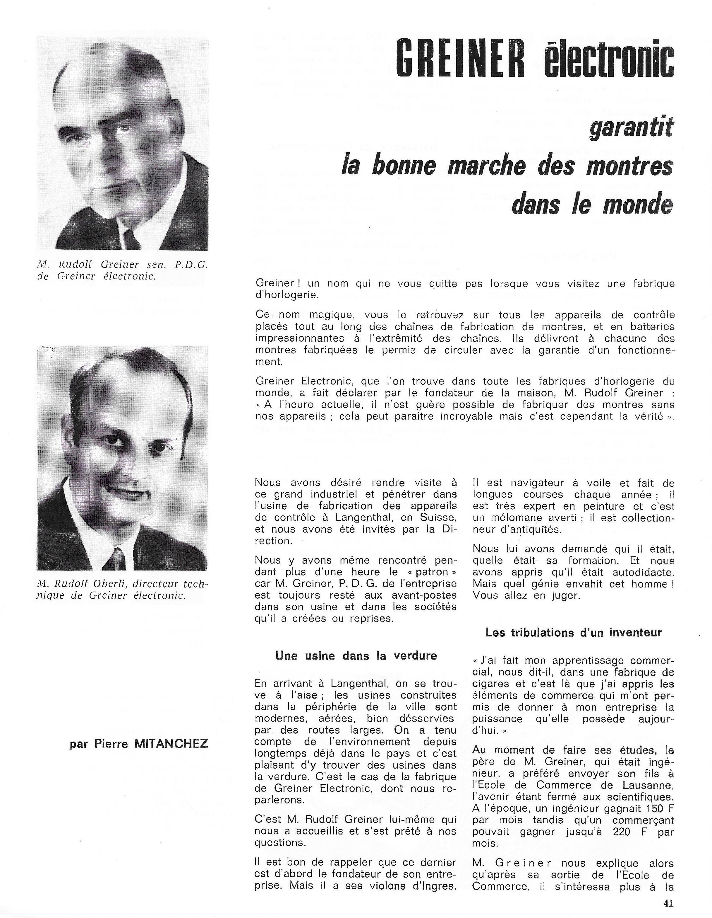 La France Horlogère page 41