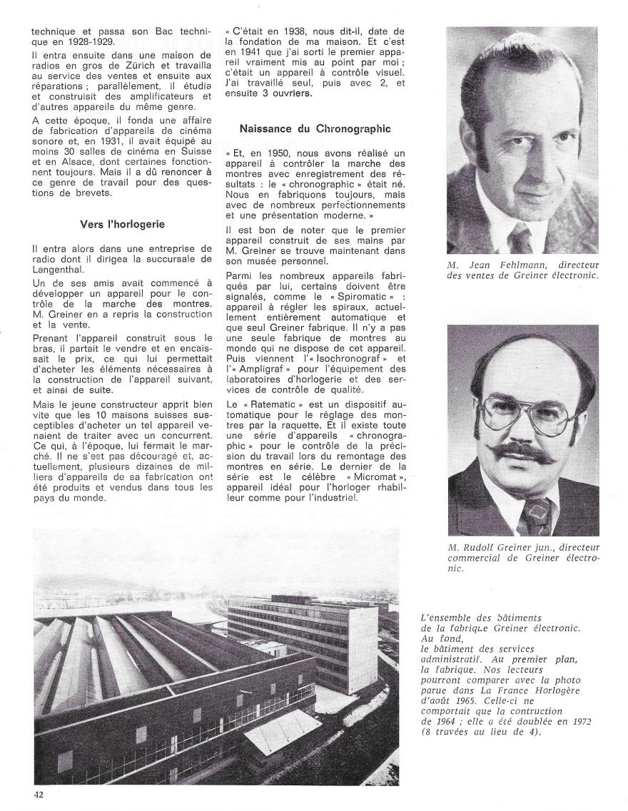 La France Horlogère page 42
