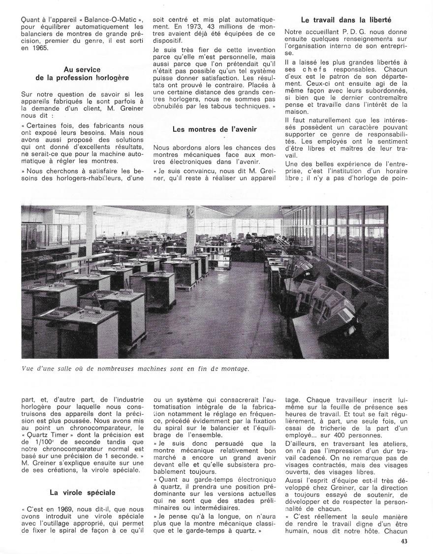 La France Horlogère page 43