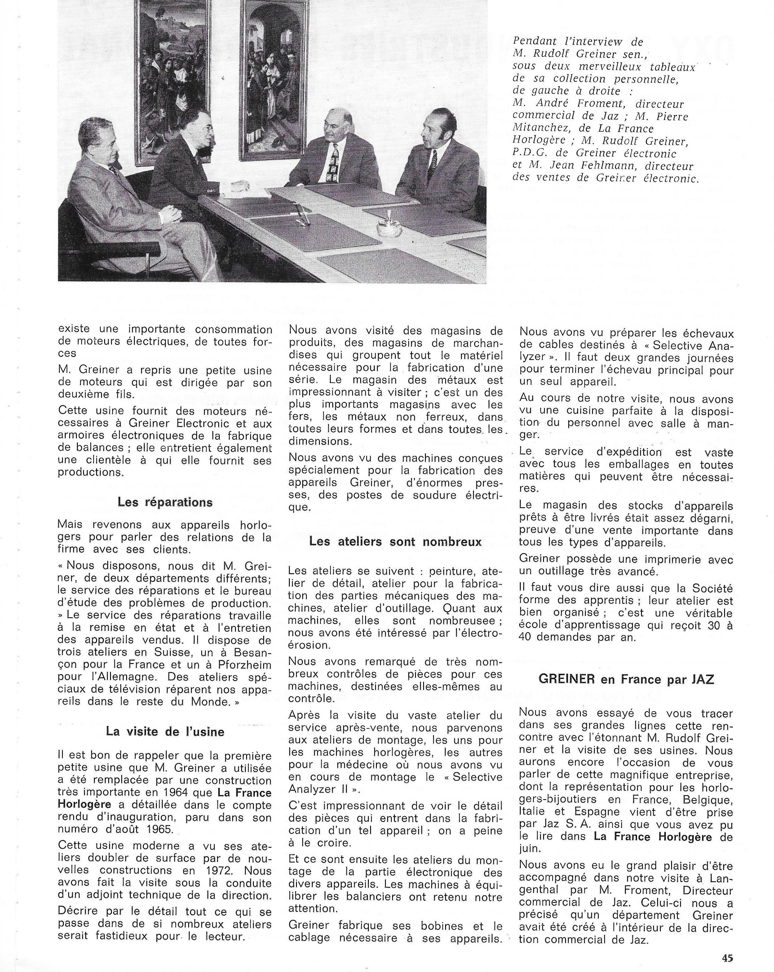 La France Horlogère page 45