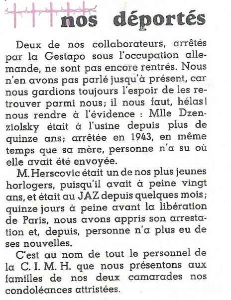 nos déportés Jazette n°9 Janvier 1946 page 4