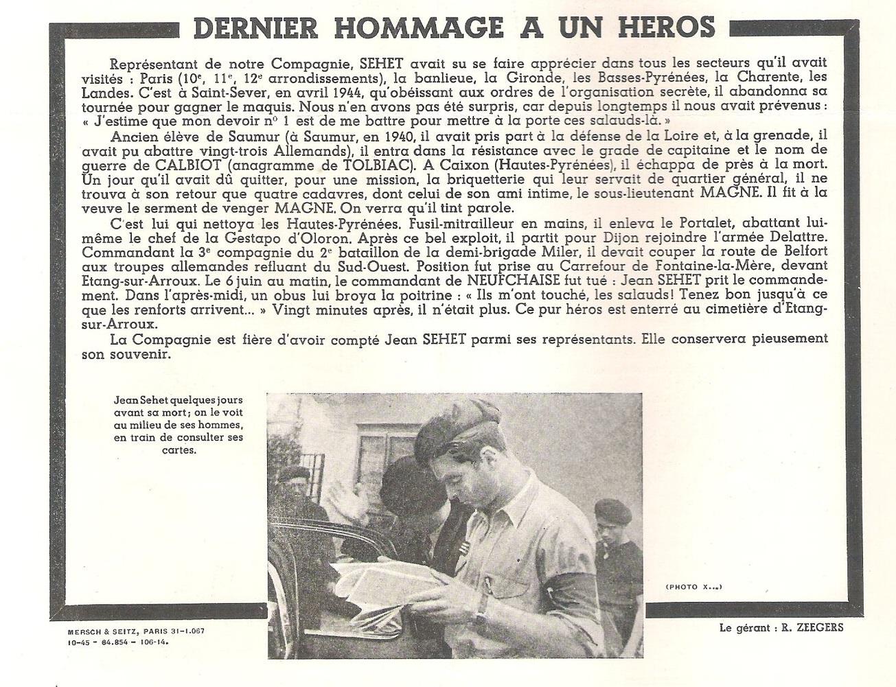 sehet Jazette n° 8 Octobre 1945 page 4