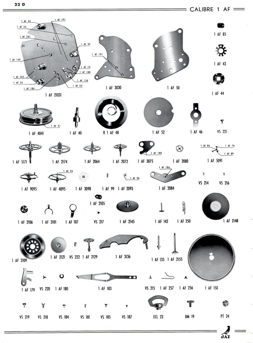 calibre AF détails