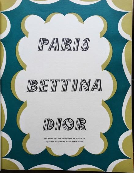 Caractère Noël 1953. Typographie présenté par Maximilien Vox.