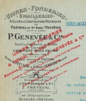 FRETEVAL-41-USINE-de-ST-OUEN-FONDERIES-EMAILLERIES