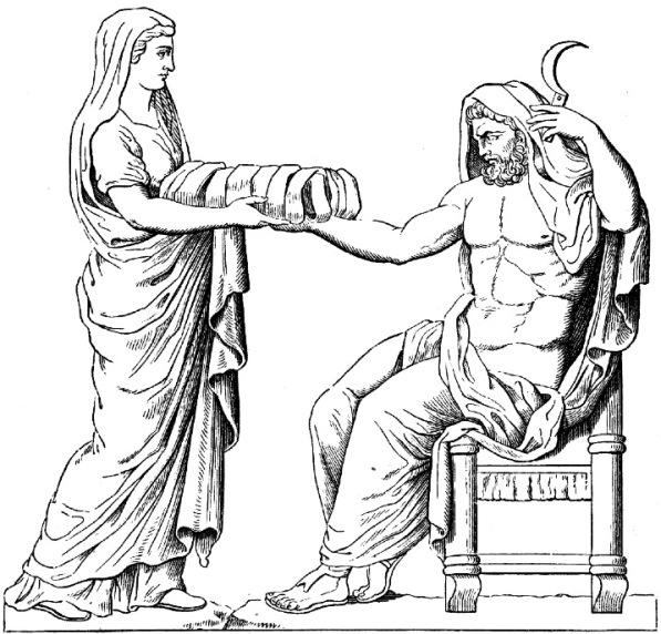 Cronos_dessin_du_bas-relief_d'un_autel_romain