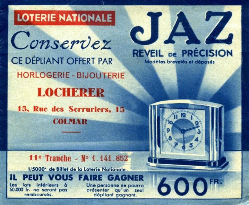 billet de loterie Colmar