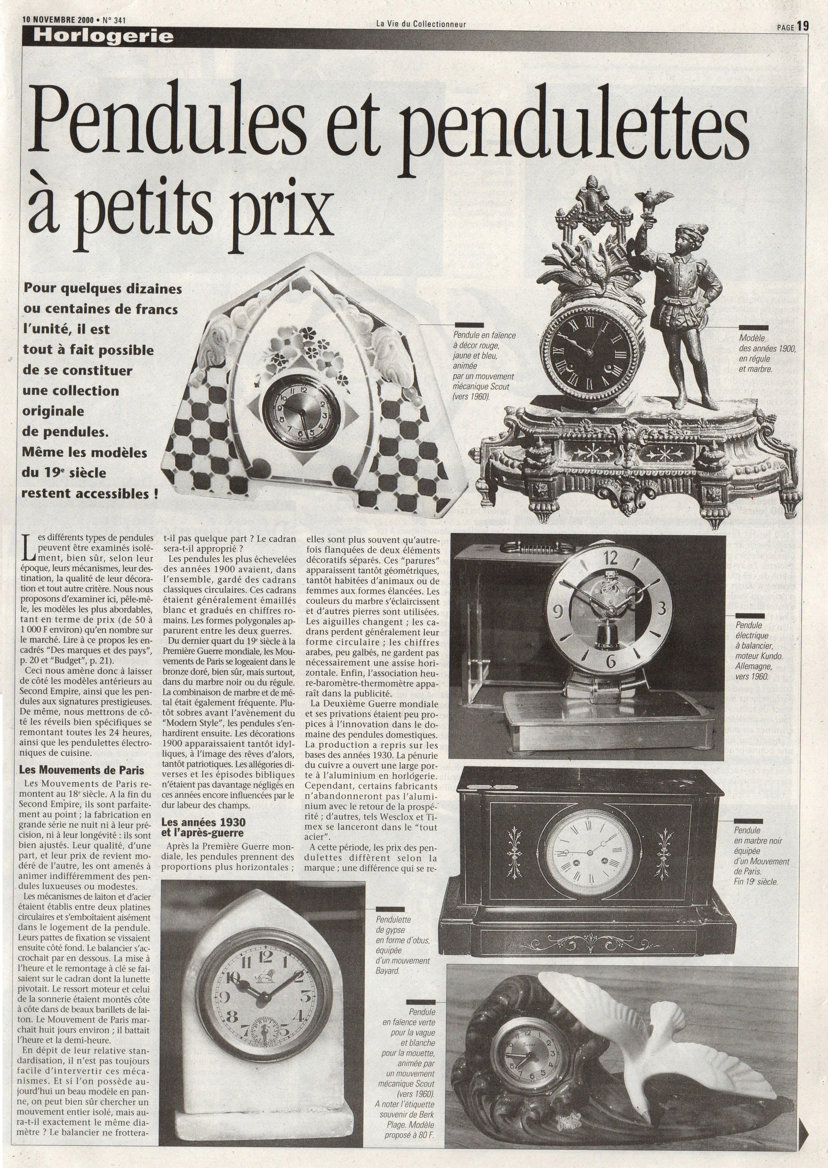 la vie du collectionneur 10 novembre 2000 page 19