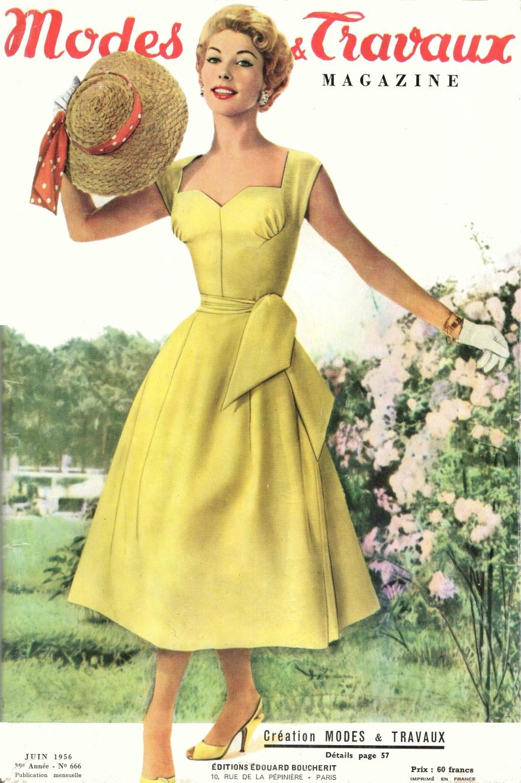 modes et travaux Juin 1956 une