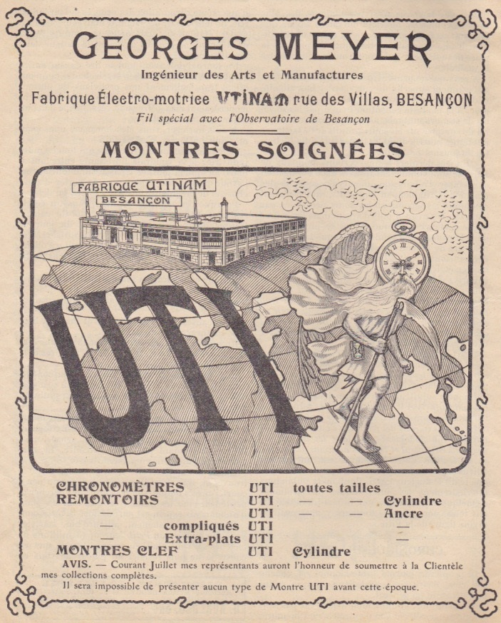 1906 Georges_Meyer_Utinam_montres_soignees_UTI_Besancon_1906