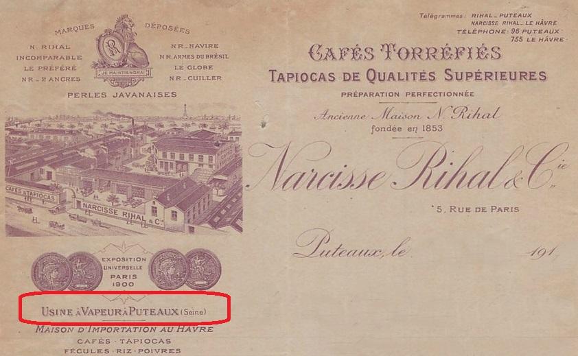 1917-cafes-torrifies-narcisse-rihal-torrifacteur-rue-de-paris-perles-javanaises-usine-a-puteaux