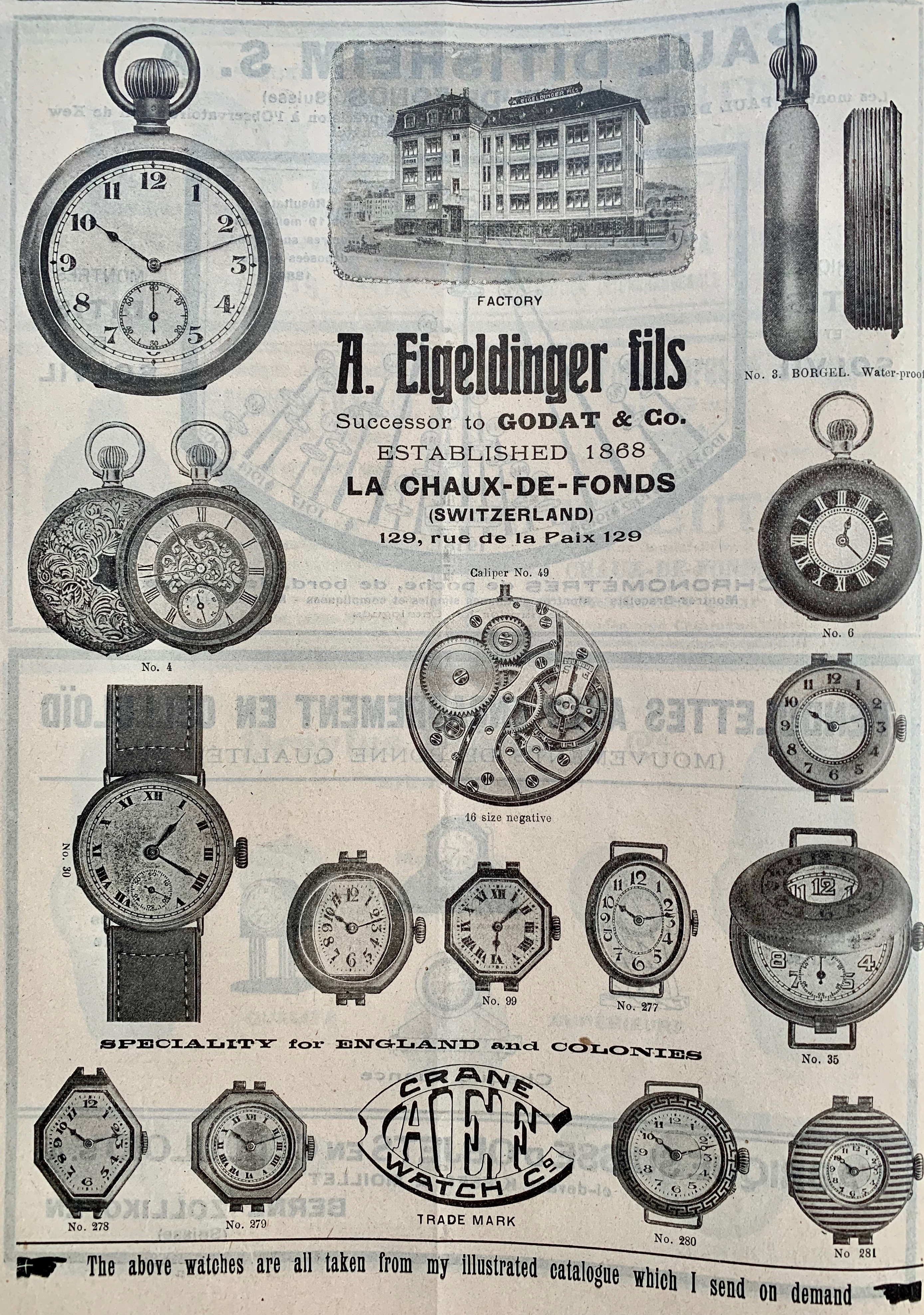 1920 Eigeldinger_fils_Godat_la_chaux_de_fonds1920