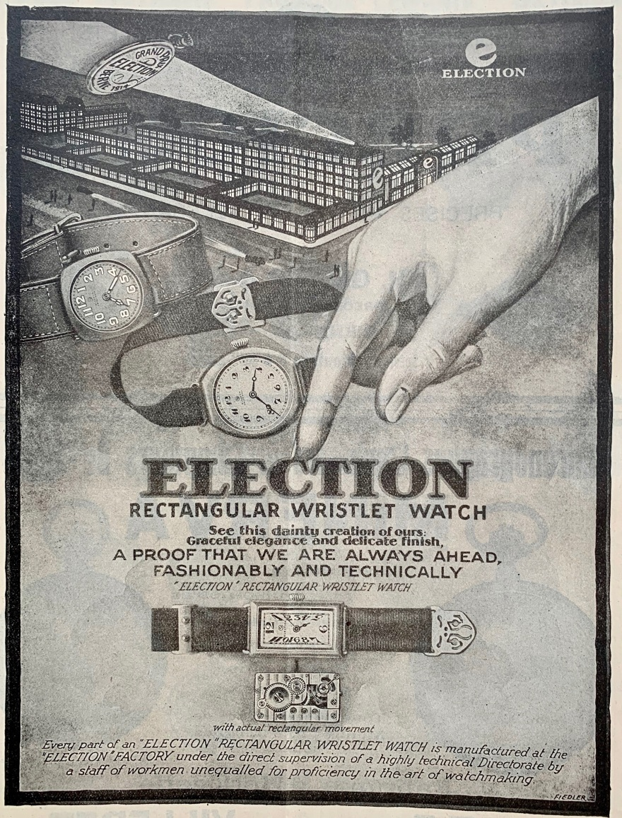 1920 Election_wristlet_watch_publicites_horlogere_1920