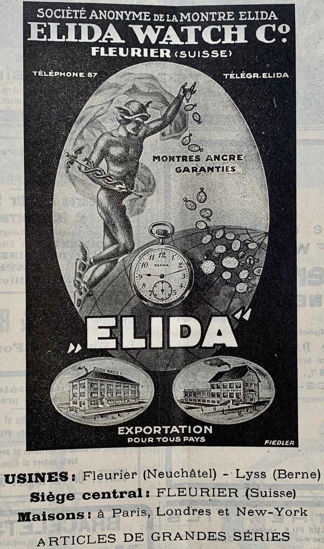 1920 Elida_Watch_fleurier_montre_ancre_garantie_publicites_horlogere_1920