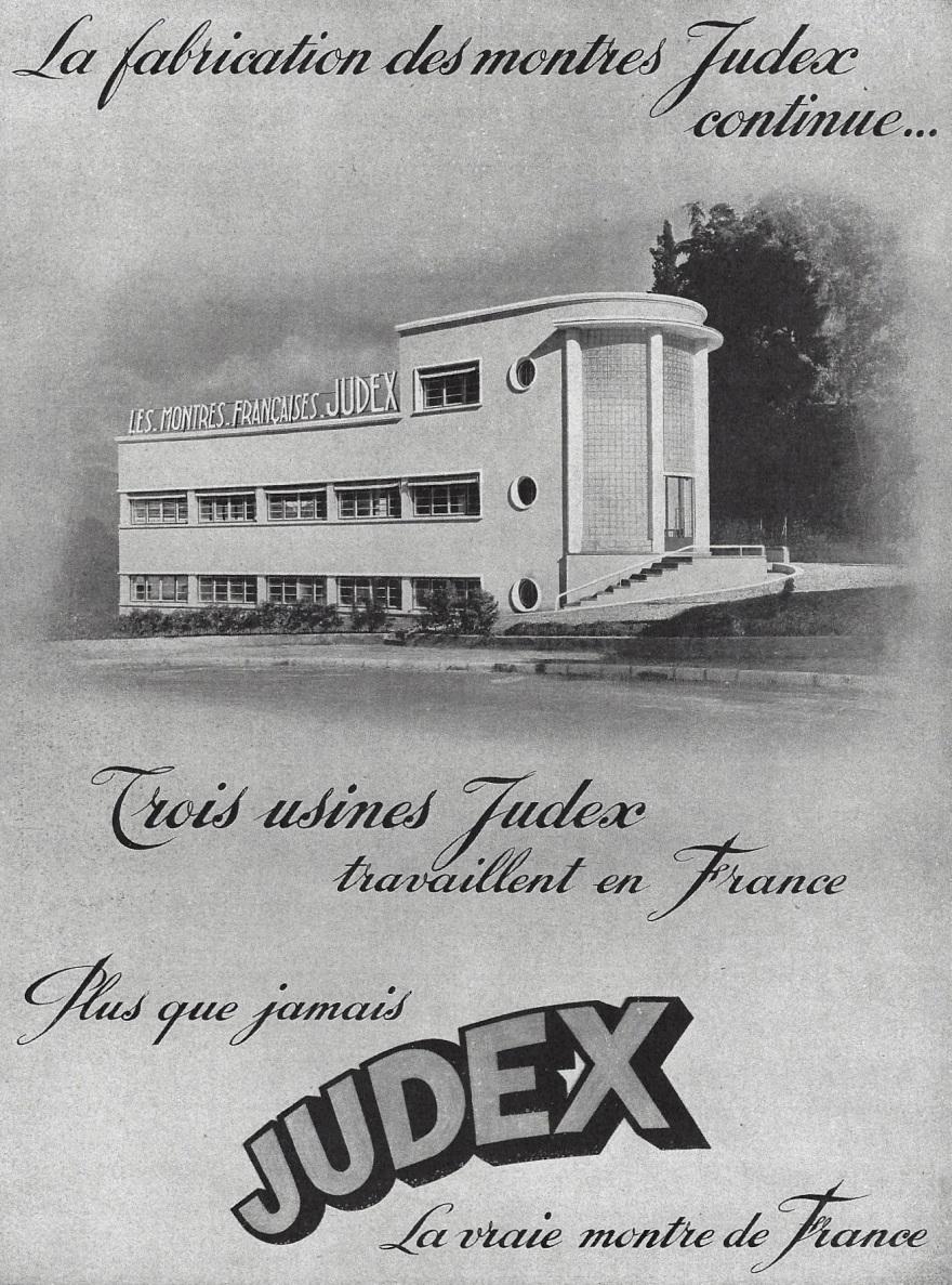 1940 Judex_la_vraie_montre_de_France_pub 1940