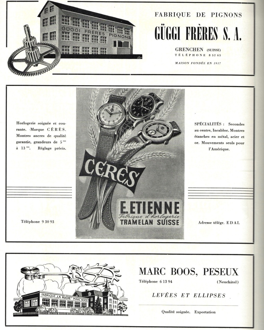 1947 Guggi_Freres_Grenchen_Ceres_E.Etienne_Tramelan_Marc_Boos_Peseux_pub 1947