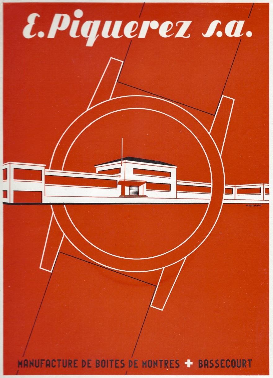 1949 E._Piquerez_SA_manufacture_de_boites_de_montres_Bassecourt_Suisse_Pub 1949
