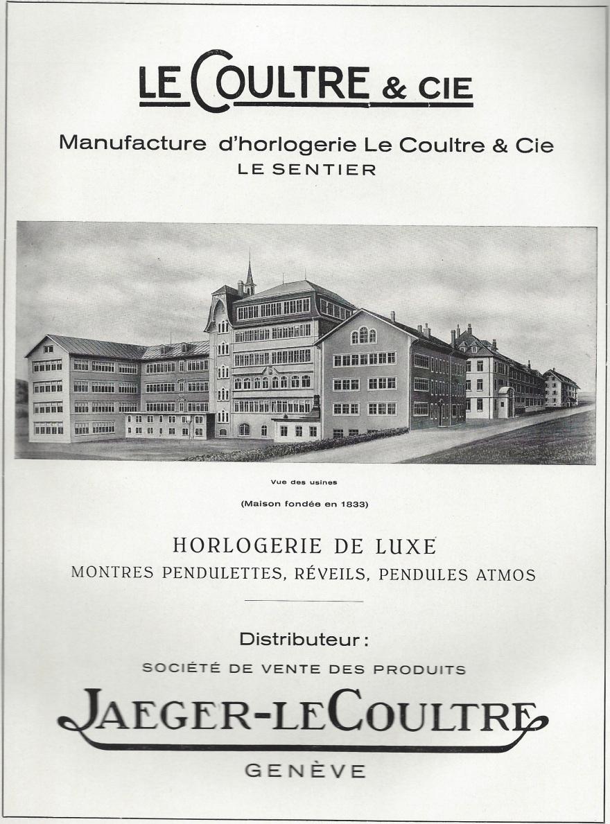1949 Jaeger_LeCoultre_manufacture_dhorlogerie_Le_Sentier_Pub 1949