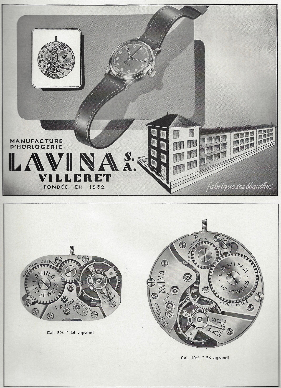 1949 Lavina_Villeret_SA_fondee_en_1852_manufacture_dhorlogerie_Pub 1949