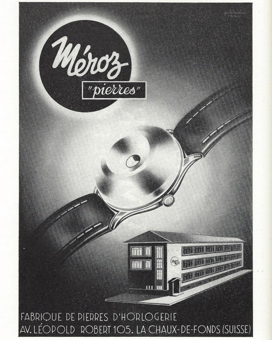 1953 Meroz_fabrique_de_pierres_dhorlogerie_La_Chaux_de_Fonds 1953