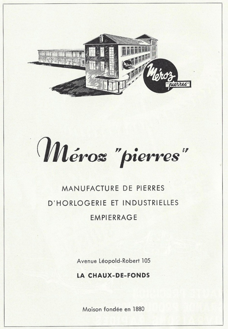 1957 Meroz_pierres_dhorlogerie_La_Chaux_de_Fonds_Pub 1957