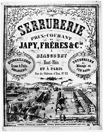 Japy catalogue 1860