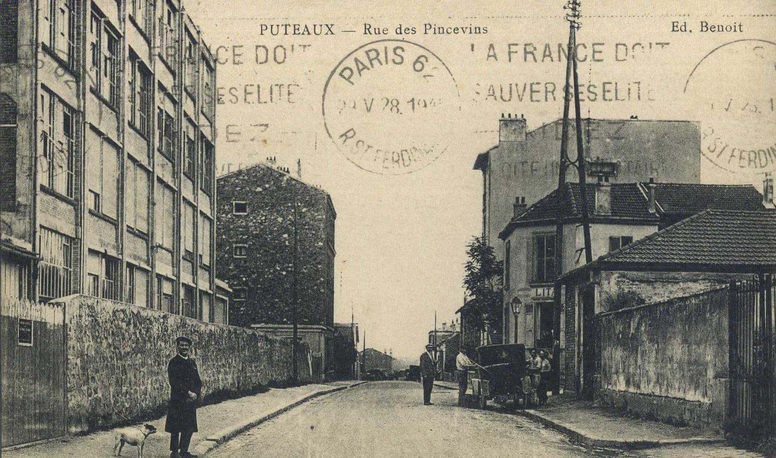 rue des Pincevins 1928