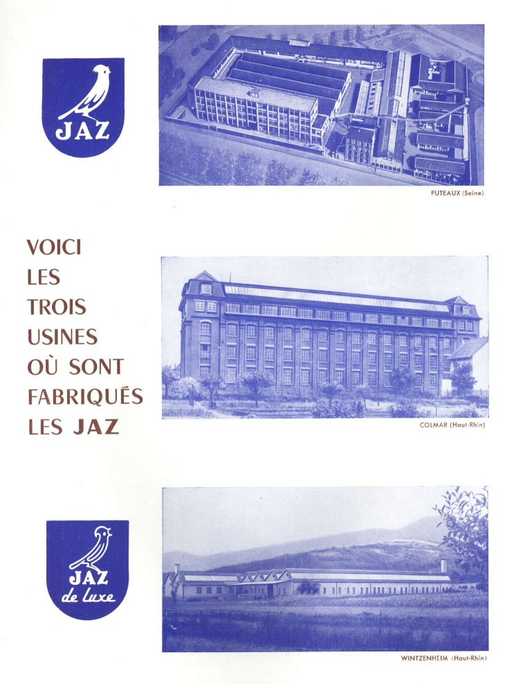 usines jaz catalogues 1954 page 0