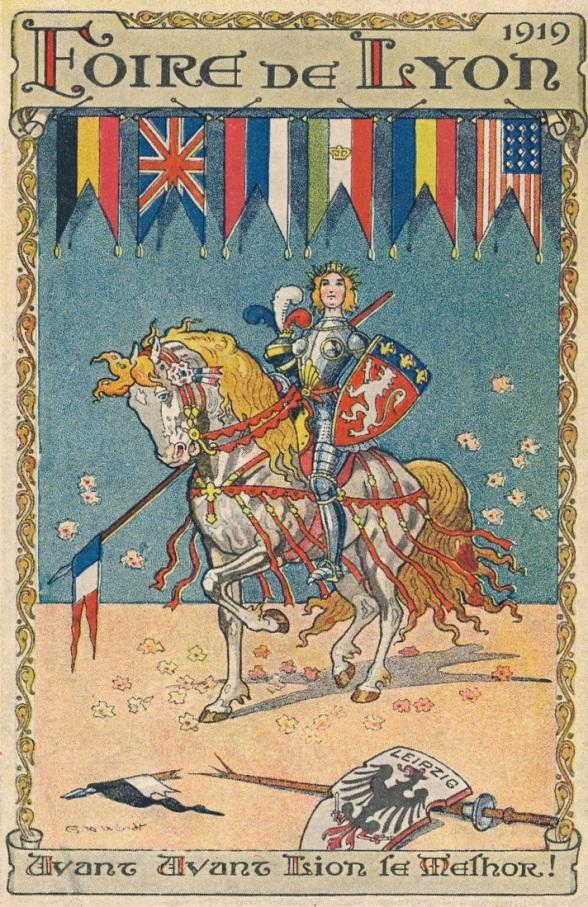 1919 foire de Lyon propagande Leipzig
