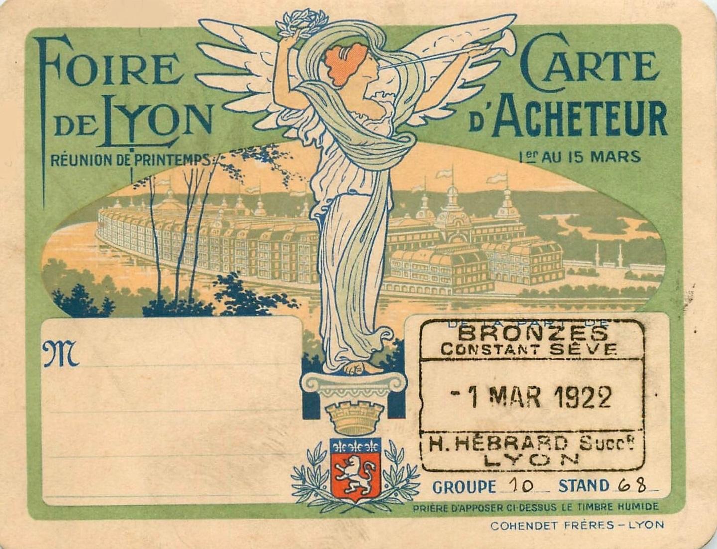 1922 carte acheteur