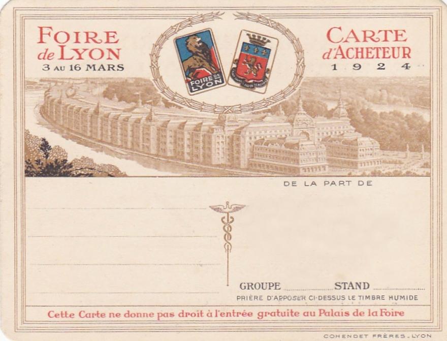 1924 carte vierge