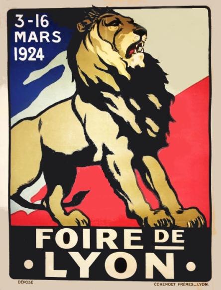 foire de Lyon affiche 1924