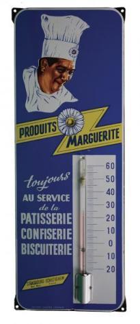 Marguerite plaque émaillée