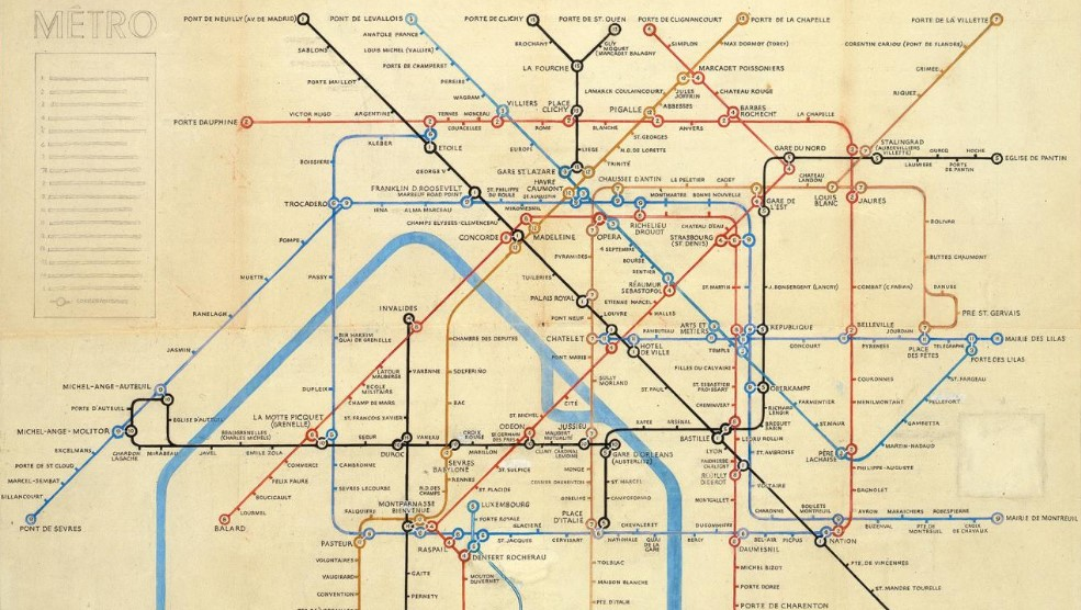 plan du métro parisien par beck