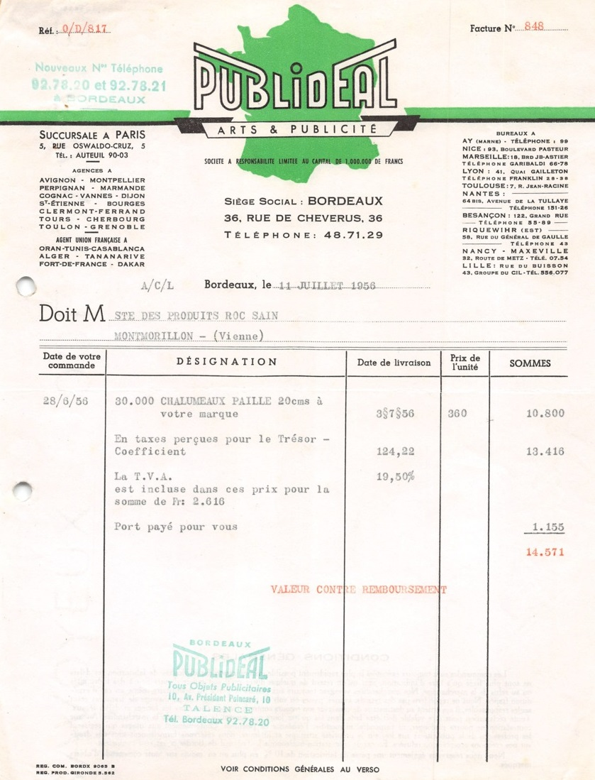 Publideal facture