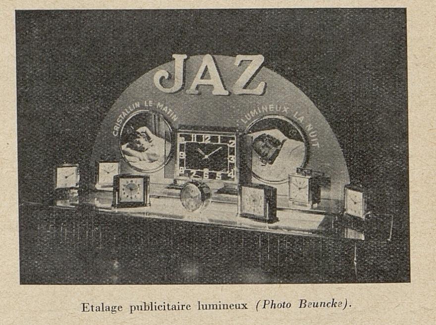 étalages publicitaire lumineux avril 1938
